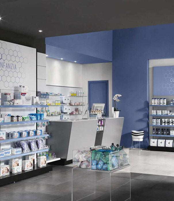 Allestimento farmacia, parafarmacia e ambienti sanitari